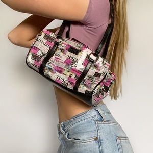 Y2K Magazine Collage Pink Mini Shoulder Bag